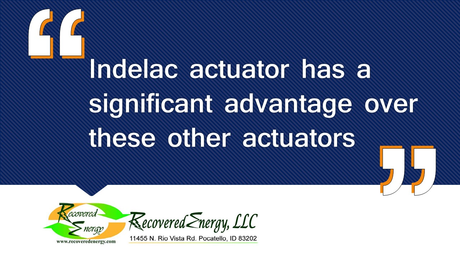 Indelac actuator has a significant advantage