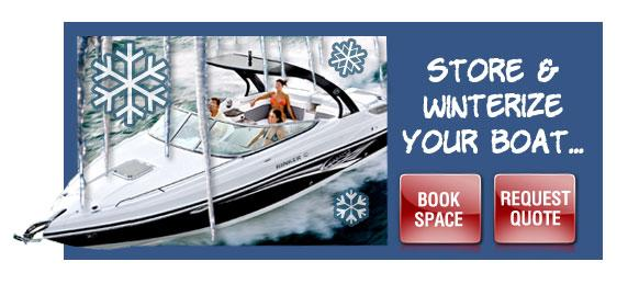 boat winterize and storage