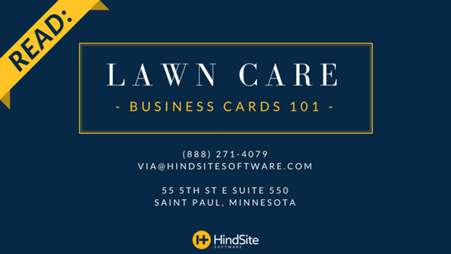 Lawn Care Business Cards 101