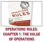Operations Rules, Chapter 1 Value of Operations