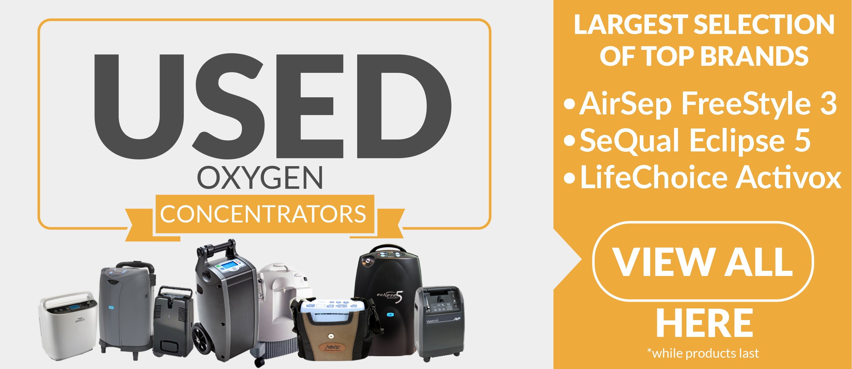 Used Portable Oxygen Concentrators >>
