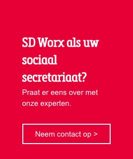 SD Worx als uw sociaal secretariaat?  Praat er eens over met onze experten. Neem contact op >