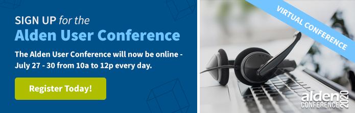 Alden User Conference Sign Up