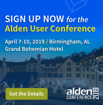 Alden User Conference 2019