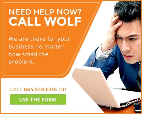 Need help now? Call Wolf.