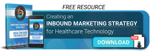 Download your Inbound Marketing Strategy for Healthcare Technology Button