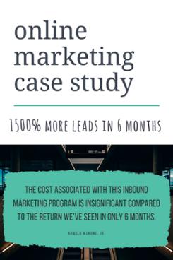 online marketing case study blog post cta