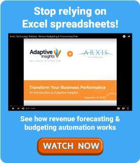 Adaptive Insights Full Demo Webinar Arxis Technology