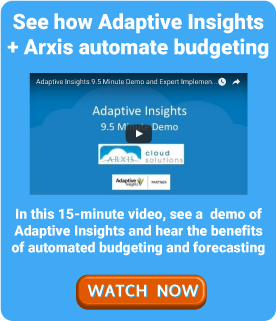 Adaptive Insights Demo Webinar Arxis Technology