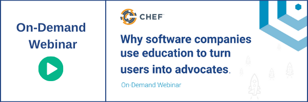 watch on-demand webinar - why software companies use education to turn users into advocates
