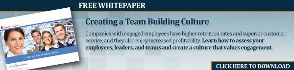 Create a team building culture