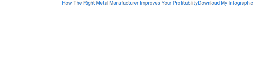 How The Right Metal Manufacturer Improves Your ProfitabilityDownload My  Infographic