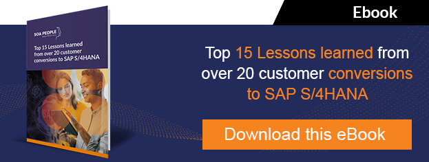 15 lessons conversions SAP S/4HANA