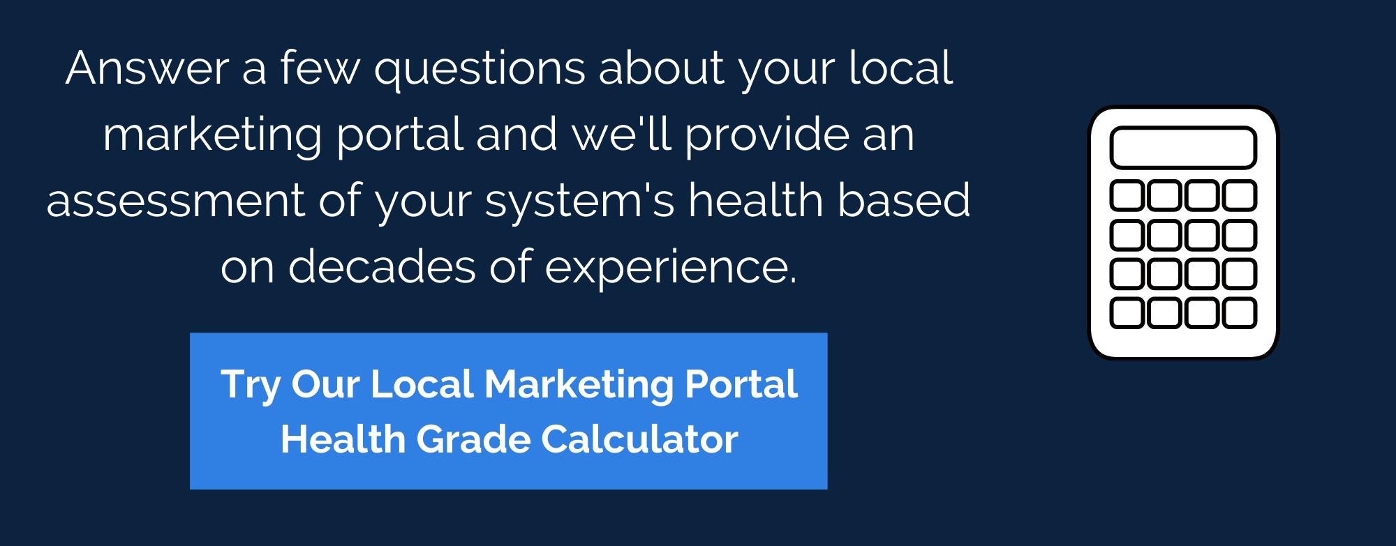 Local Marketing Portal Health Calculator