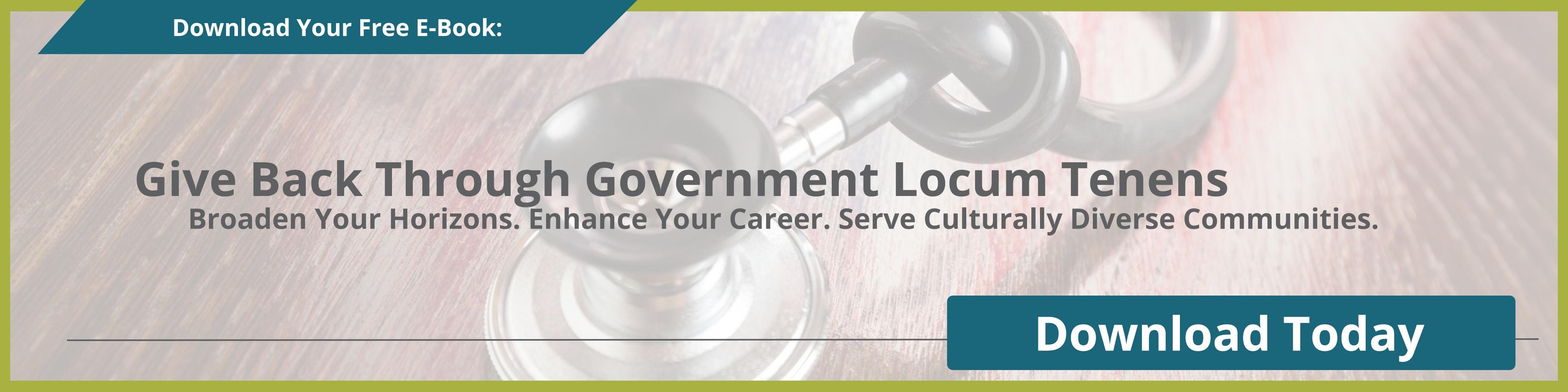 Giving Back through Government Locum Tenens