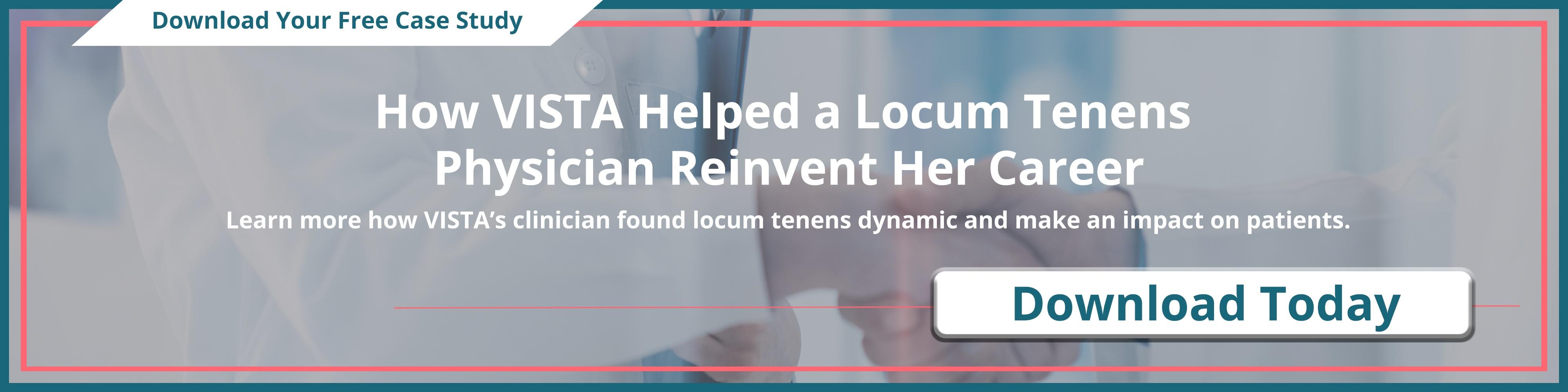 VISTA Helped a Locum Tenens Physician Reinvent Her Career