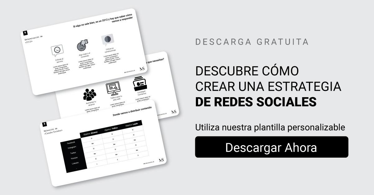 Plantilla redes sociales