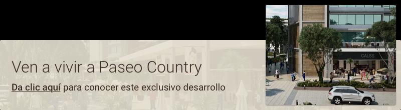 Ven a vivir a Paseo Country.