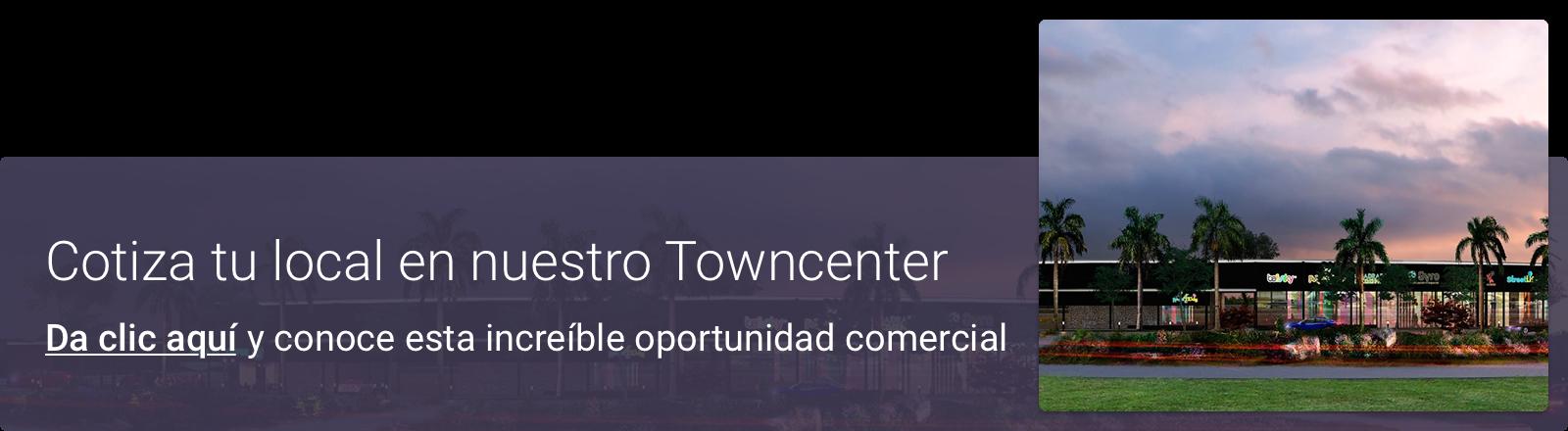 Cotiza tu local en nuestro Towncenter