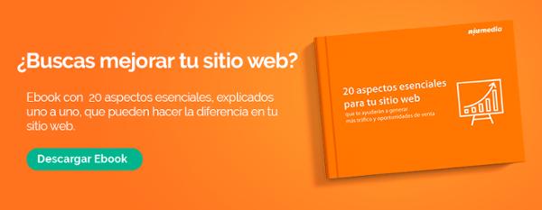 Ebook 20 aspectos escenciales para tu sitio web