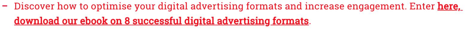 8 digital advertising formats