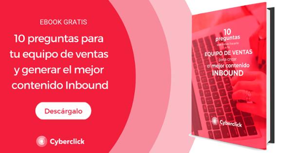 Ebook: 10 preguntas para tu equipo de ventas y generar el mejor contenido inbound