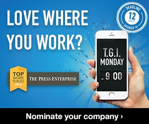 Love Where You Work?  Top Workplaces Riverside 2016