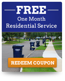 Free Month of Residential Service Coupon