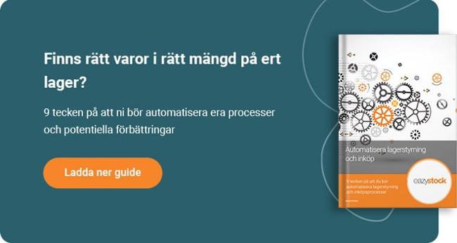 Automatisera lagerstyrning och inköp