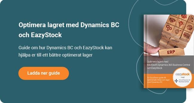Guide Optimera lagret med Microsoft Dynamics 365 Business Central och EazyStock