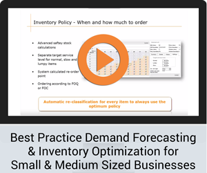 Best Practice Demand Forecasting & Inventory Optimization for Small & Medium Sized Businesses