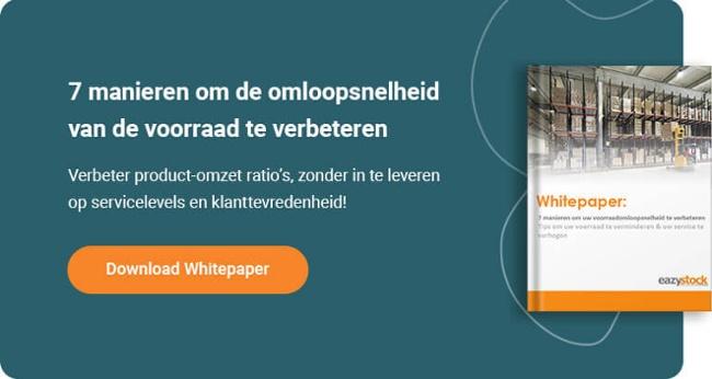 Whitepaper - 7 manieren om uw voorraadomloopsnelheid te verbeteren