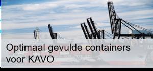Optimaal gevulde containers voor KAVO Banner