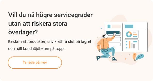 EazyStock Varför EazyStock Bättre servicegrad