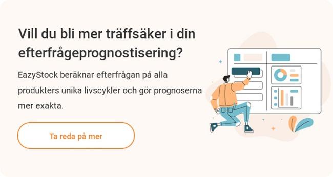 EazyStock Mjukvara Efterfrågeprognoser