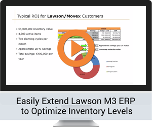 Easily Extend Lawson M3 ERP to Optimize Inventory Levels