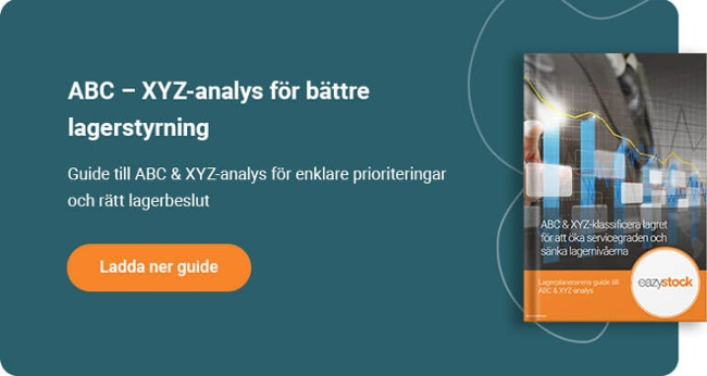Lagerplanerarens guide till ABC & XYZ-analys