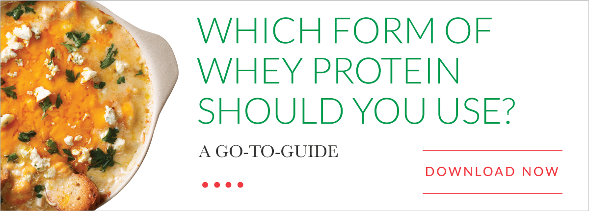 Selecting the Best Whey Protein for a Given Application