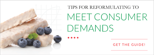 Tips for Reformulating to Meet Consumer Demands