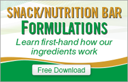 Snack and Nutrition Bar Formulations