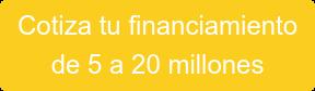 Cotiza tu financiamiento de 5 a 20 millones