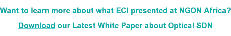 Want to learn more about what ECI presented at NGON Africa?  Download our Latest White Paper about Optical SDN