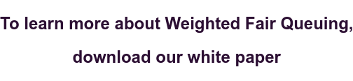 To learn more about Weighted Fair Queuing,   download our white paper