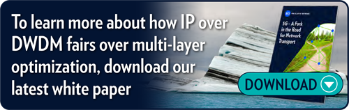 To learn more about how IP over DWDM fairs over multi-layer optimization,  download our latest white paper