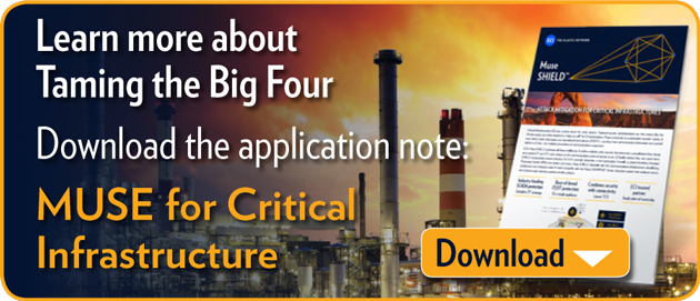Learn more about Taming the Big 4 Download application note: Muse SHIELD for Critical Infrastructure