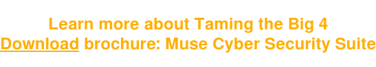 Learn more about Taming the Big 4 Download brochure: Muse Cyber Security Suite