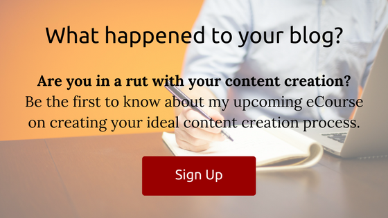 upcoming eCourse for improving your content creation process