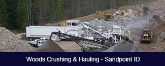 Woods Crushing & Hauling spread