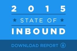 download the 2015 state of inbound marketing report from Hubspot