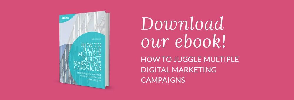 eBook juggle multiple digital marketing campaigns